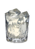 Glass whit ice Stock Images
