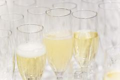 Glass of white cava produced in Almendralejo stock photos