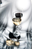 Red and white wine glasses Royalty Free Stock Images
