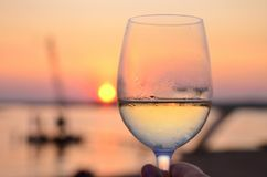 Glass and sunset Stock Images