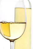 Glass of white wine. Glass of wine isolated on white background Stock Images