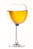 Glass with white wine Stock Photography