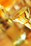 Glass of white wine. On a celebratory table Royalty Free Stock Images