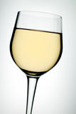 Glass on white wine Royalty Free Stock Photos