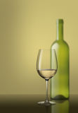 Glass of white wine. White wine still life image Stock Photos