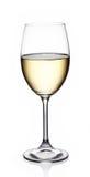 Glass of white wine. On white background Stock Photo