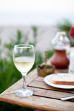 Glass of white wine. Royalty Free Stock Photography