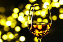 Glass with white wine Royalty Free Stock Photography