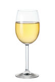 Glass of white wine. Isolated on white background stock photography