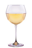 Glass of white wine isolated Stock Images