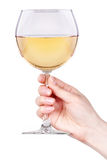 Glass of white wine isolated Stock Photo
