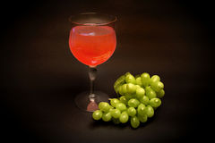 Glass of white Zinfandel California wine stock image