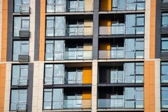 Glass window buillding architecture city Kiev new. Scape Stock Image