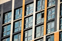 Glass window buillding architecture city Kiev new. Scape Royalty Free Stock Photography