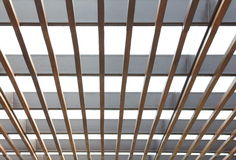 Glass window with ceiling Royalty Free Stock Photography