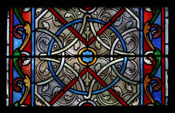 Glass window in a church Stock Photography
