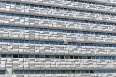 Glass window on corporate building Stock Image