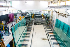 Glass window factory Royalty Free Stock Images