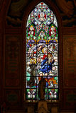 Glass Window Jundiai Cathedral Sao Paulo Brazil Royalty Free Stock Photography