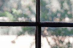 GLASS WINDOW PANES Stock Photo