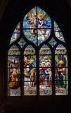 Glass Window Saint Severin Church Paris Stock Photos