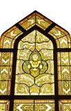 Glass window in temple thailand Stock Images