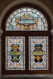 Glass Window in Victoria Parliament Canada Royalty Free Stock Photo