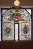 Glass Window in Victoria Parliament Canada Stock Images