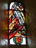 Glass window with William Wallace stock images