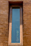 Glass window with wooden frame Royalty Free Stock Photos