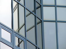Glass windows. Of modern building with reflections Stock Photo
