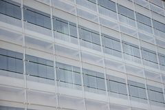 Glass windows. Facade in an office building stock photography