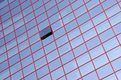 Glass windows. With red stripes royalty free stock photography