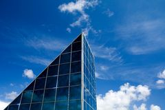 Glass windows building facade Royalty Free Stock Image