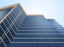 Glass windows on building Royalty Free Stock Images