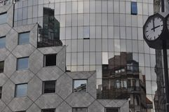 Mirror window in the city royalty free stock photos
