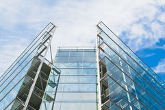Glass windows centre business Stock Photography
