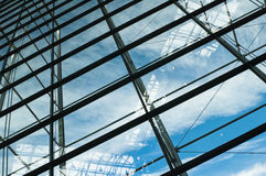 Glass windows centre business Royalty Free Stock Image