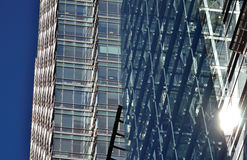 Glass windows facade stock images