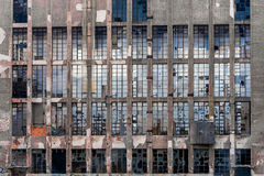 Glass windows on an industrial building Stock Photos
