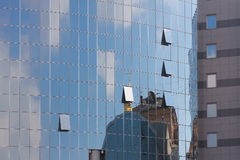 Glass windows of new buildings in Kiev Royalty Free Stock Photo