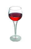 Glass Of Wine. Glass of red wine. Isolated on a white background Stock Image