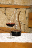 Glass of wine. Photo of glass of red wine royalty free stock images