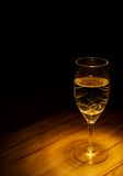 Glass of wine. Glass of white wine still life (low-key image Royalty Free Stock Photos