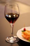Glass of wine. Alcohol drink,glass of red wine in the restaurant Stock Image