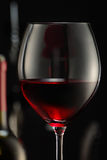 Glass of wine. A glass of red wine stock images