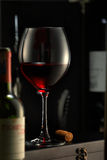 Glass of wine. A glass of red wine royalty free stock photos