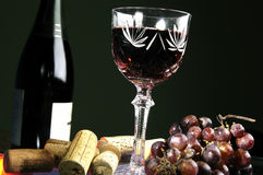 Glass with wine Stock Image