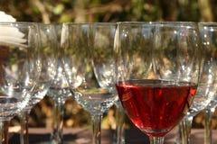 glass wine Arkivfoto