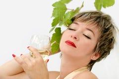 Glass of wine Stock Image